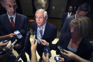 NBA Commissioner David Stern during NBA Lockout press conference.