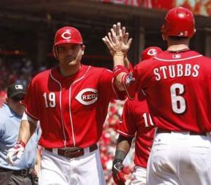 Reds Celebrate Sweep Of San Francisco