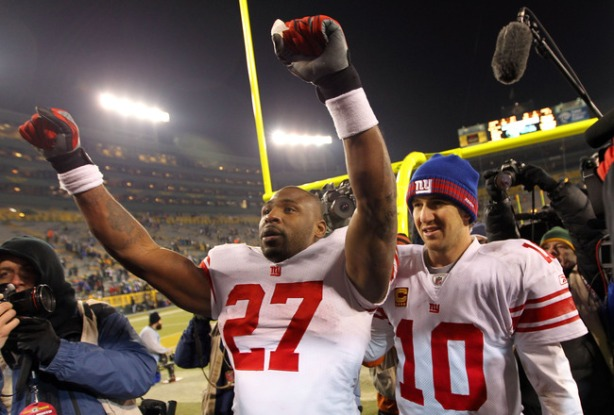 Giants Celebrate Overtime Win Over San Francisco In The 2012 NFC Title Game